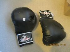 CENTURY BLACK BOXING GLOVES FROM ELLIS PROPS AUCTION - MOVIE USED