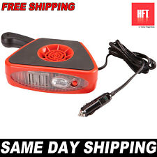 NEW 12V Auto Fast Heater Defroster Fan Portable Car Truck w Light Mount Or Hand