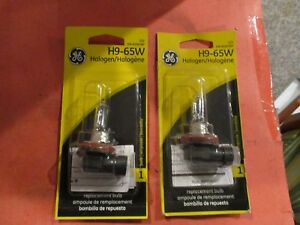 H9-65W  GE--LOT OF--2--HALOGEN Headlight
