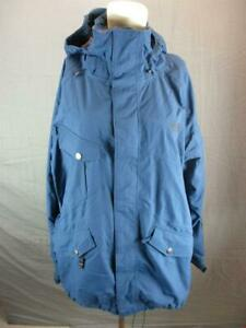 The North Face Size L Mens Blue Full Zip HyVent Windproof Hooded Ski Jacket T572