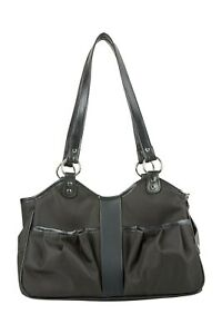 PETOTE METRO CLASSIC Sable All Black Tote Dog Carrier Bag 3 Sizes