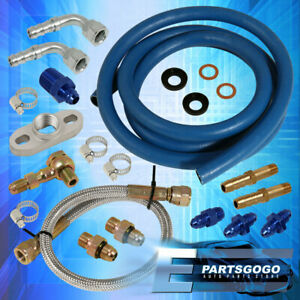 Jdm Turbo Turbocharger Oil Water Cooled Feed Line Kit T25 T28 G28 Gt25 Gt28