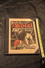 VINTAGE ART BOOK LOCKWOOD ANIMAL TECHNIQUE 40 PLATES KALAMAZOO 1ST EDITION RARE