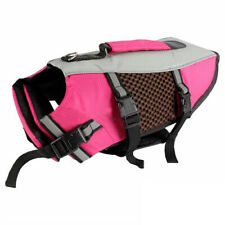 New Dog Life Jacket Pet Swimming Aquatic Vest Safety Clothes Preserver W/ Handle