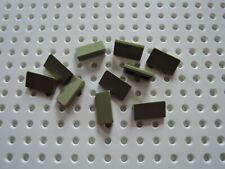 Lego 10 x Dachstein Schrägstein  85984 1x1x2/3  oliv grün