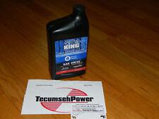 GENUINE Tecumseh snowblower engine oil 730226B 5W30 1QT MADE IN USA