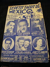 Partition Le petit tacot de Mexico Hélian Warner Leca  Music Sheet