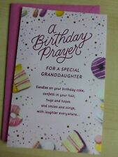 American greetings card- Happy Birthday Granddaughter-a Birthday Prayer