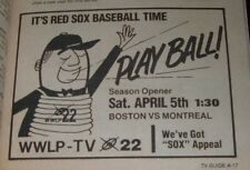 1980 TV GUIDE~BOSTON RED SOX BASEBALL SCHEDULE OPENING DAY~~HOWARD RUFF