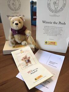 Steiff Winnie The Pooh 75th Pooh Birthday Limited Edition 2001 All Documentation