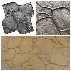 Gummi matten Beton Textur Stempel Dekordruck  Stempelbeton Strukturputz Kiesel