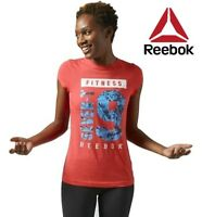 Reebok CrossFit GR79 Red Fitness Tee Top Fitness Gym T Shirt Free Tracked Post