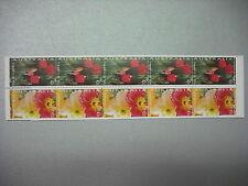 AUSTRALIA 1994 LIBRETTO 10 francobolli 5 coppie TEMATICA : FIORI cod UNI 1414/15