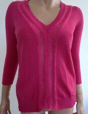 NWT PIERRE BALMAIN Fuchsia Pink Wool Cashmere Mohair Pullover Sweater 38 US-4/6