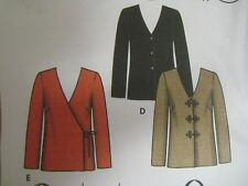 Simplicity 5162 SIDE-WRAP TIE JACKET & CAMISOLE Sewing Pattern Women Size 8-14