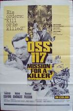 OSS 117 FURIA A BAHIA MISSION FOR A KILLER one sheet movie poster 27x41 1965