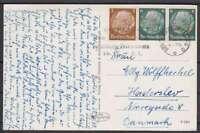 Dr mi No 513, 516 Mif Abroad Ak Castle Sanssouci Berlin - Denmark 1938 With Ws