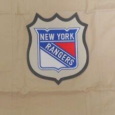 Pottery Barn Nhl New York Rangers Chenille Patch Pillow Sham Tan Standard Nwot