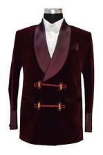 Men Burgundy Smoking Jacket Elegant Luxury Stylish Designer Party Wear Blazers