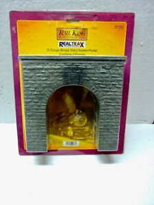 MTH 40-9014 Rail King Real Trax O Gauge Single Train Tunnel Portal (2 in Pack)
