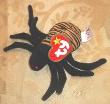 TY Beanie Babies SPINNER the SPIDER~NWT 1999 Retired HTF 4 inches PLUSH