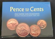 1966 AUSTRALIA PENCE to CENTS - FOLDING COPPER COIN CHANGEOVER PACK