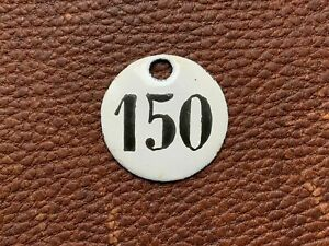 Number 150 Vintage Enamel Train Seat Numbers from Europe Lucky Number House Room