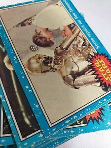 X48 Star Wars 1977 Topps Cards UK blue series joblot