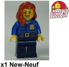 Lego - Figurine Minifig City Officer Female femme police badge gold cty485 NEUF