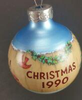 Vintage Christmas Keepsake Ornament 1990 Hallmark GRANDMOTHER Glass Ball