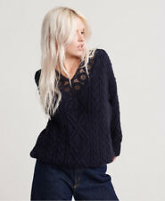 Superdry Womens Lannah Lace Vee Cable Knit
