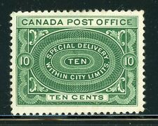 CANADA MH Selections: Scott #E1 10c Blue Green Special Delivery 1898 CV$150+