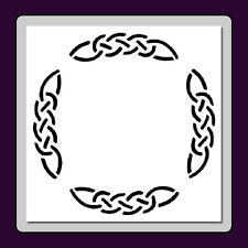 Celtic Knot Round Frame/Border STENCIL Medieval/Irish/Wiccan In 3 Sizes!