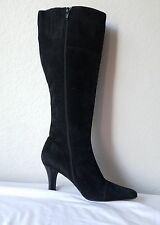 via spiga black  suede boots classic 8 M Made in Italy