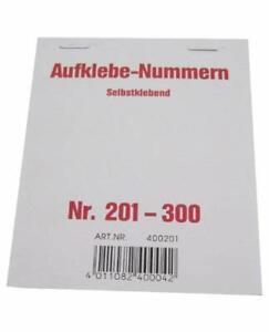 Wolf & Appenzeller 400201 - Gewinnaufklebe-Nummern 201-300, selbstklebend