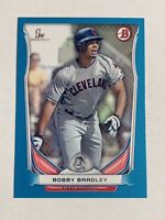 2014 Bowman Draft Bobby Bradley Blue Paper Parallel #'d 268/399 Indians Rookie