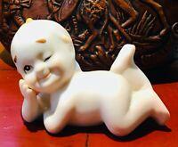 Vintage Bisque Kewpie Doll Winking Figurine Made in Japan