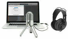 Samson Podcast Recording Podcasting Microphone+Studio Headphones+Cables+Case