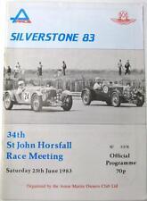 Silverstone 25th Jun 1983 St John Horsfall Motor Racing Official Programme