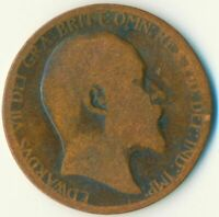 1902 HALF PENNY OF EDWARD VII. VERY NICE COLLECTIBLE COIN    #WT6931