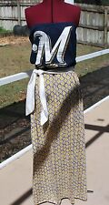 Milwaukee Brewers Strapless Tube Maxi Dress Sash Upcycled T-Shirts M