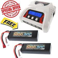 Powerhobby 2s 5200mah 50c DEANS Lipo Battery x2 + Venom 0683 Dual Charger COMBO
