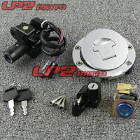 Motorcycle Ignition Switch Lock Key Gas Cap Set For Honda CB400 92-98 CB-1 VT250