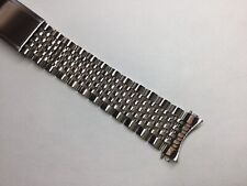 NEW 19MM 316L SOLID STAINLESS BEAD OF RICE STEEL BAND BRACELET FOR OMEGA 1037