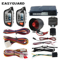 EASYGUARD 2 way car alarm system remote start turbo timer shock sensor lcd play
