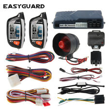 EASYGUARD 2 way car alarm system remote start turbo timer shock sensor lcd play