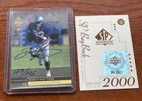 1998 Ricky Watters Auto SP UPPER DECK Buy Back Auto COA Seattle Seahawks