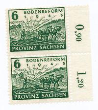 Provinz Sachsen 90 postfris paar met plaatfout VIII (veld 20)