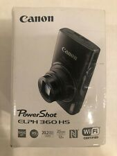 Canon PowerShot ELPH 360 HS Camera 12x 20.2 MP Sliver WIFI CERT - FREE SHIPPING