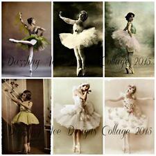 Set 2 Vintage Ballet Images Embellishments / Topper Cards Design Design